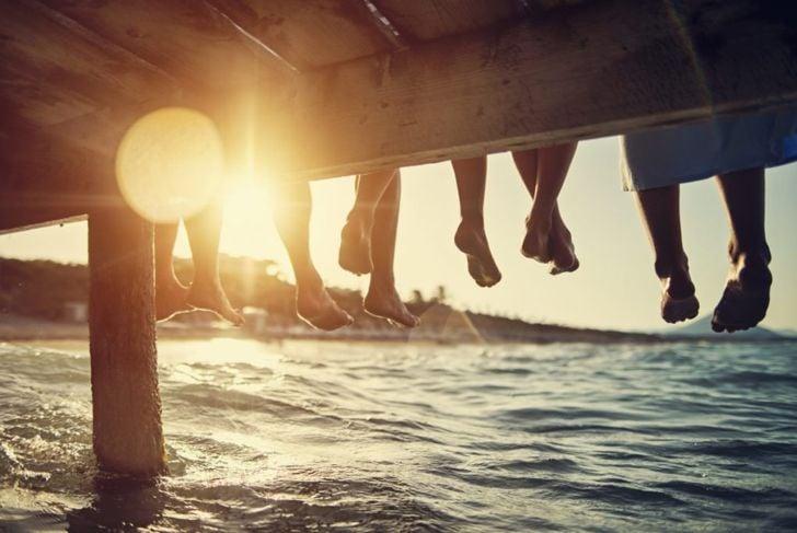 Sunset on dock