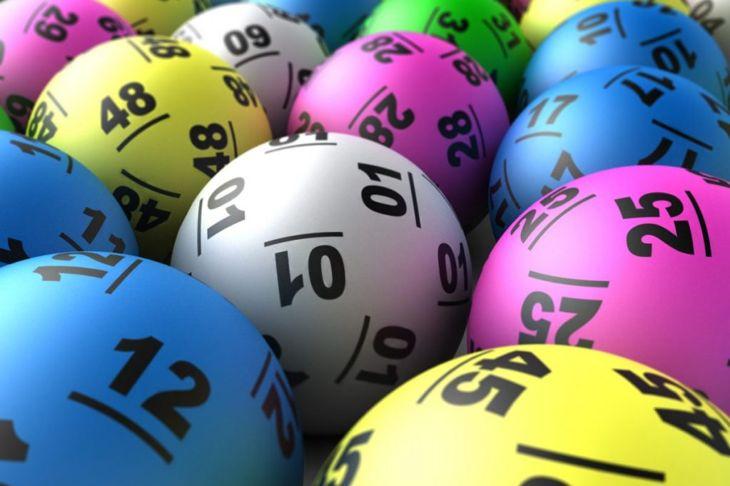 Multicolored lottery balls