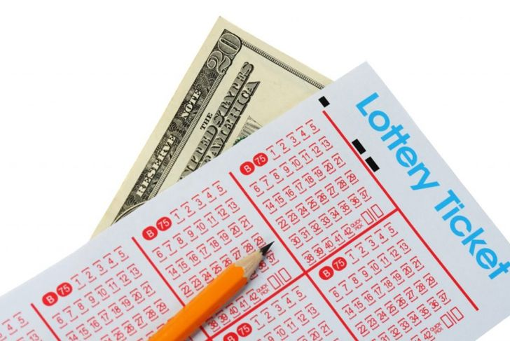 Pencil and lottery ticket