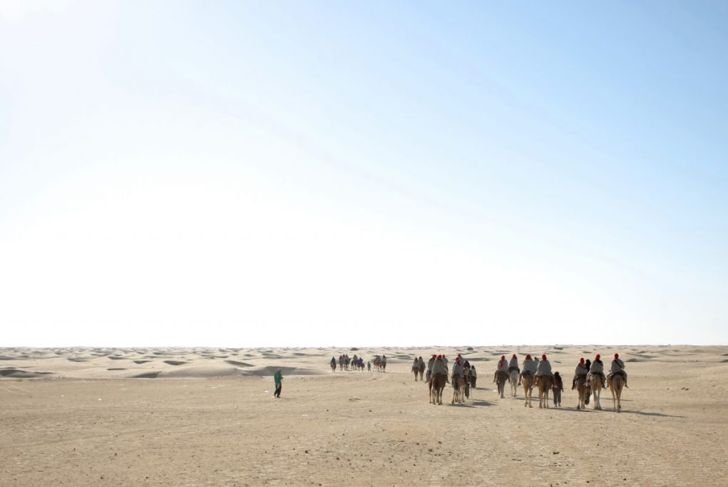 Tourists outside of Kebili