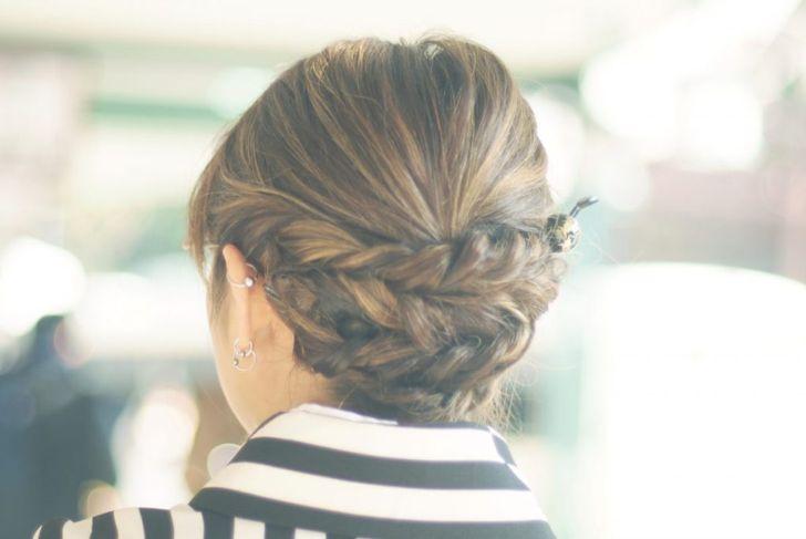 braided up do medium hair