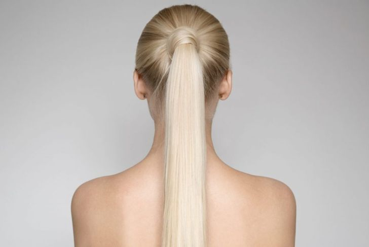long hair pony tail