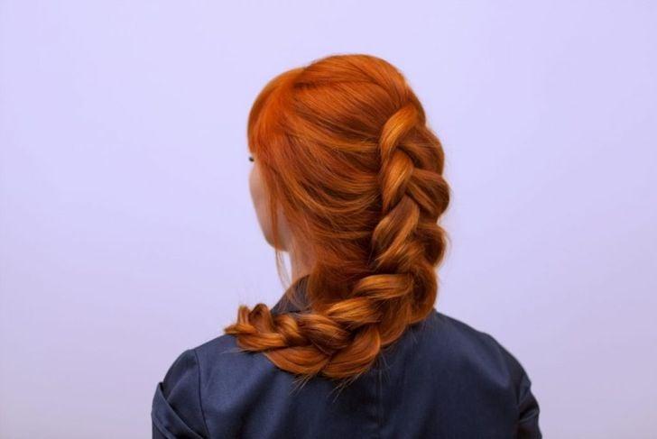 long hair Dutch braid