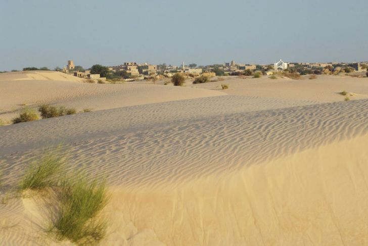 """""""Looking across the sand dunes of the Sahara Desert towards the legendary city of Timbuktu.Mali, West Africa"""""""