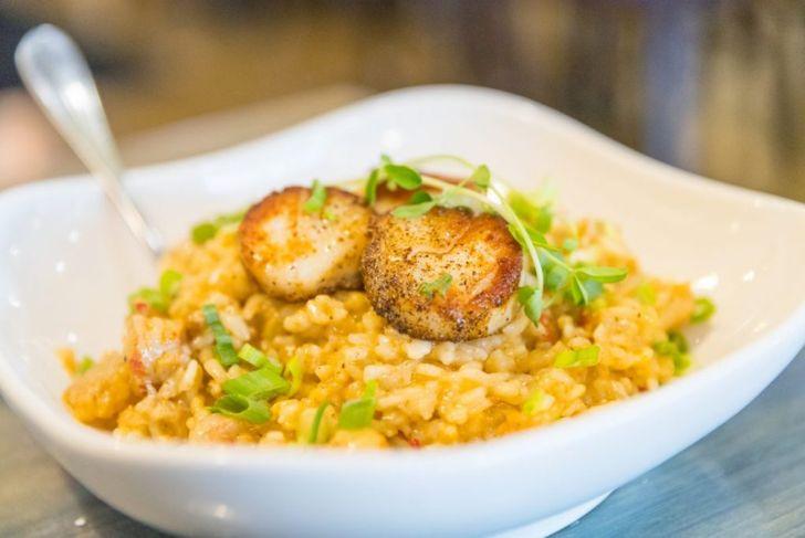 risotto rice scallops