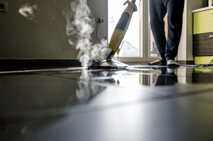 steam cleaning dishwasher interior