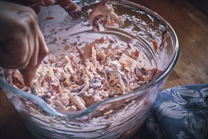 coleslaw mix together