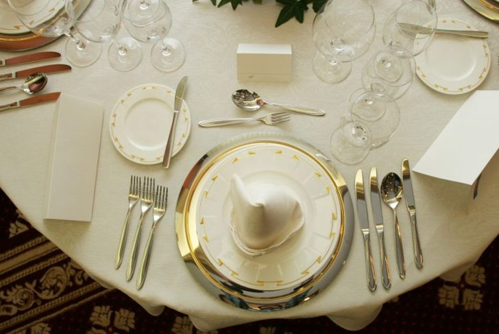 five course table setting