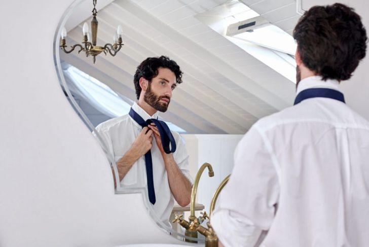 neck loop wide tie