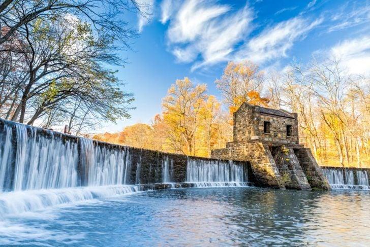 speedwell dam waterfall morristown