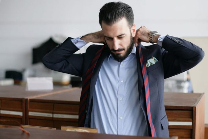 length shoulder drape