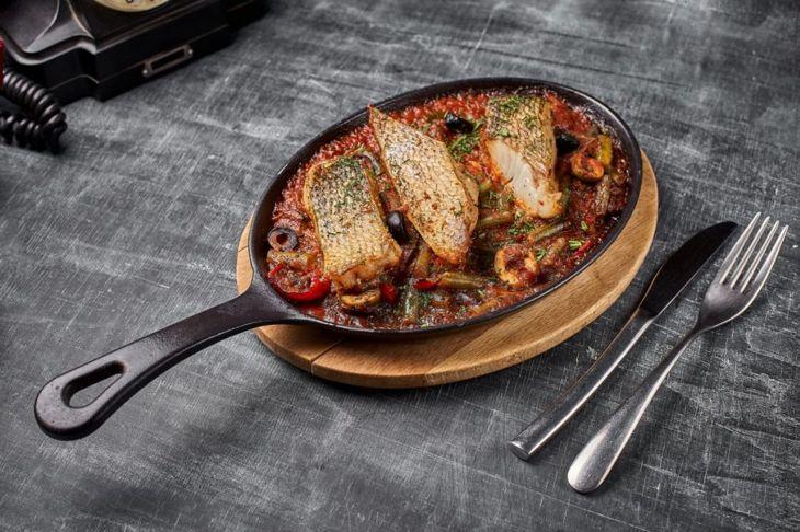 chicken breast, okra, hot sauce