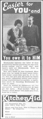 Vintage ads for kitchen appliances