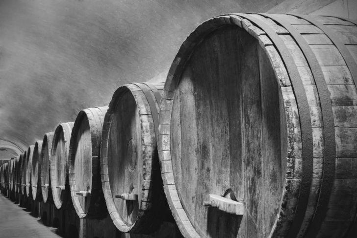 Sicilian Marsala Wine in Barrels