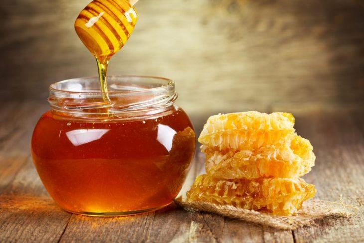 honey jar honeycomb