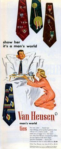 Vintage tie ad