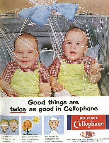 Cellophane vintage ad