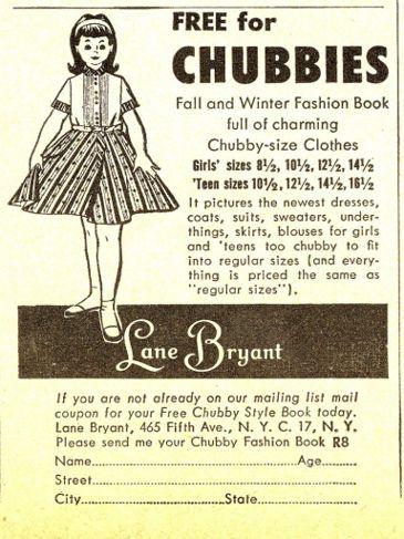 Vintage clothing ad