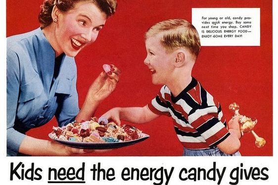 Vintage candy ad