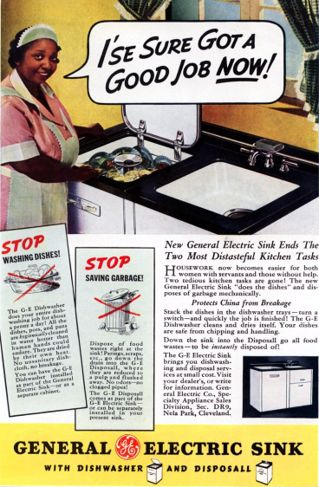 Vintage dishwasher ad