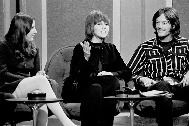 NEW YORK, NY - MARCH 12: Amy, Jane and Peter Fonda on a TV Show on March 12,1970 in New York, New York. (Photo by Santi Visalli/Getty Images)
