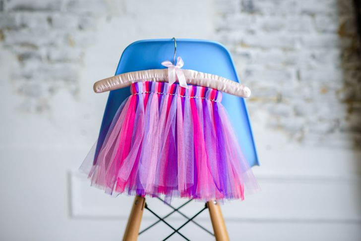 colorful fun children's skirt tutu for a holiday party