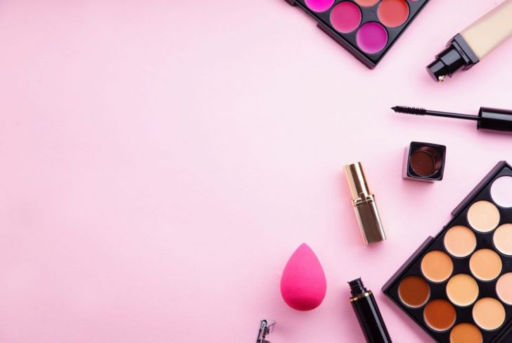 A collection of makeup products