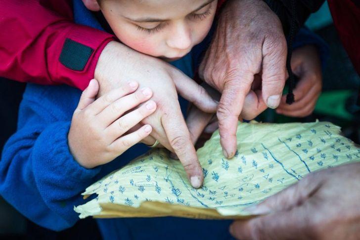 boy grandparents treasure map
