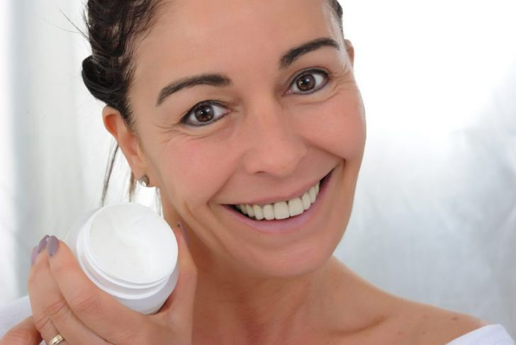 Woman with tinted moisturizer