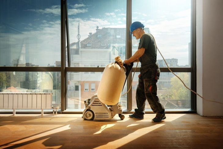 flooring project renovating sanders