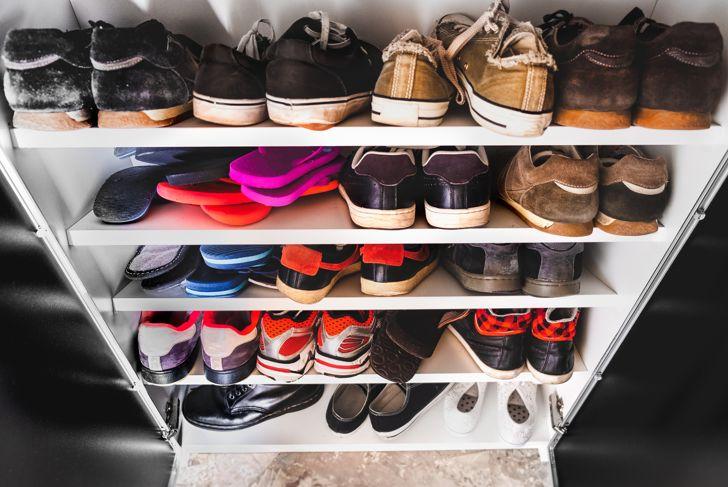 shoe rack for man many sneakers shelves