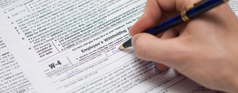 Filling Out a W4 Form