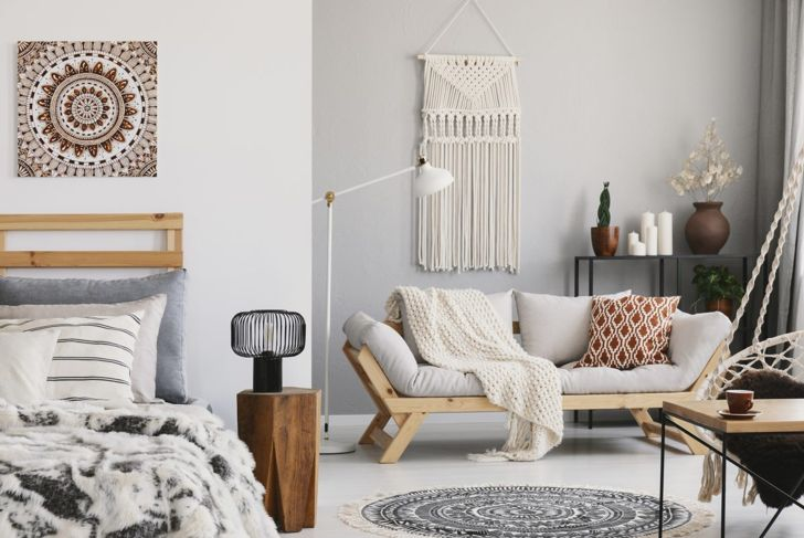 Hygge is all about soothing, natural colors and textures.