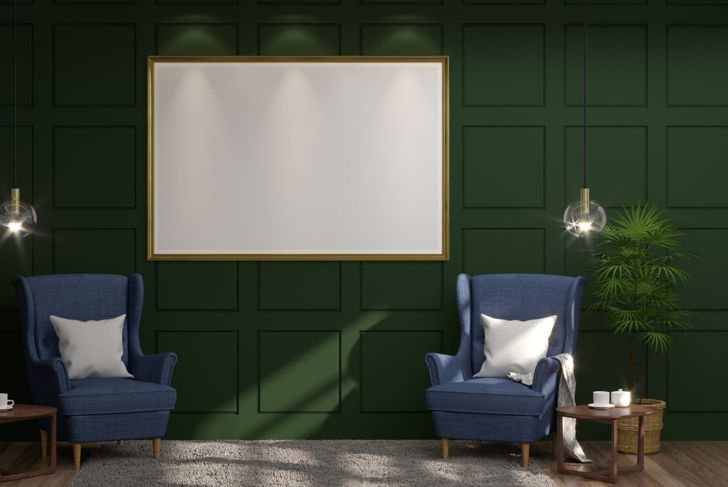 Green and Classic Blue combine to form a relaxed, earthy color palette.