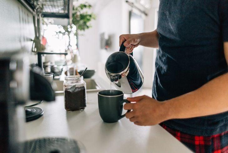 coffee area mug kitchen