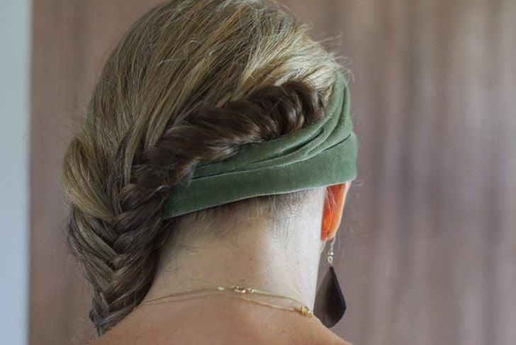 The graceful Dutch side braid enhances any style.