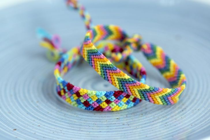 Chevron rainbow friendship bracelet