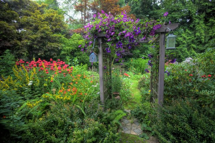 Landscaping ideas garden and path arbor