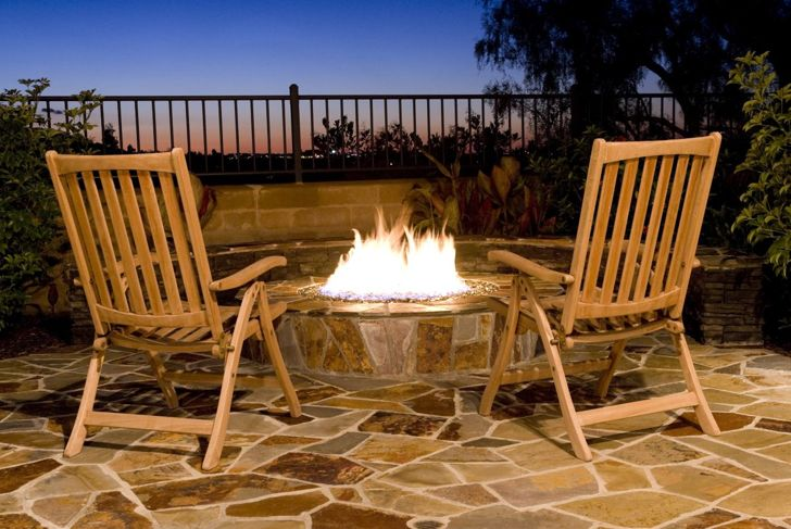 wood burning gas fire pit