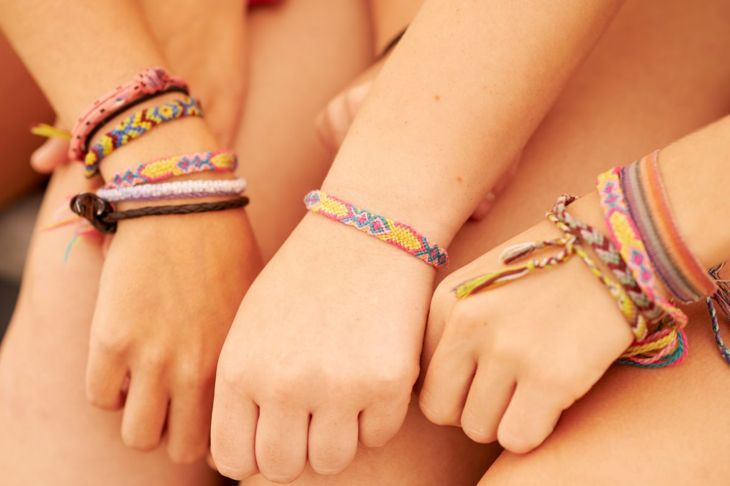 Finished friendship bracelets