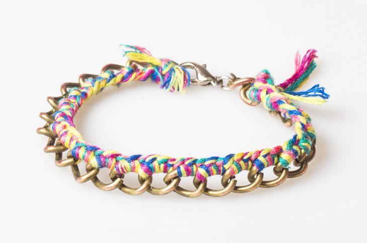 Embellished friendship bracelet