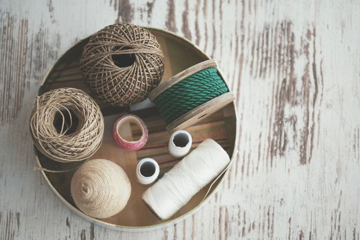 Various decorative ropes - knolling