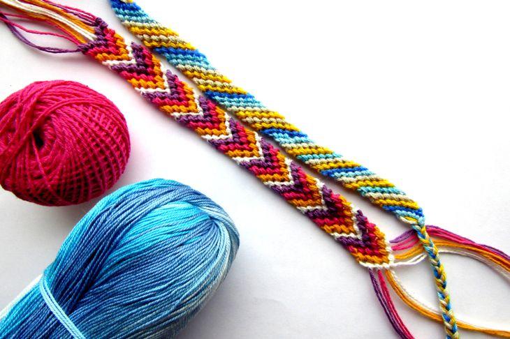 Bracelet woven thread colorful friendship bracelet