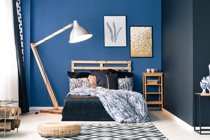 blue is a calming wall color