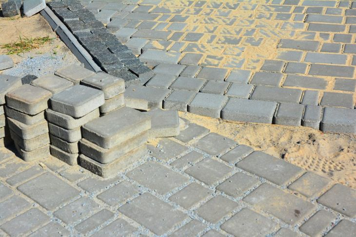paver sand tiles cracks