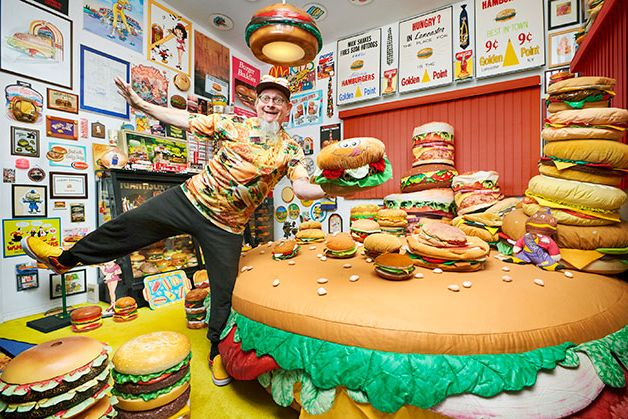 Largest collection of hamburger related items