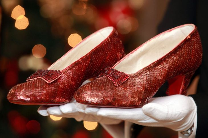 Dorothy's famous ruby slippers