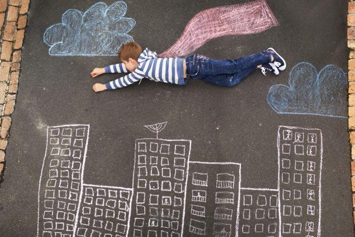 Chalk photo backdrop