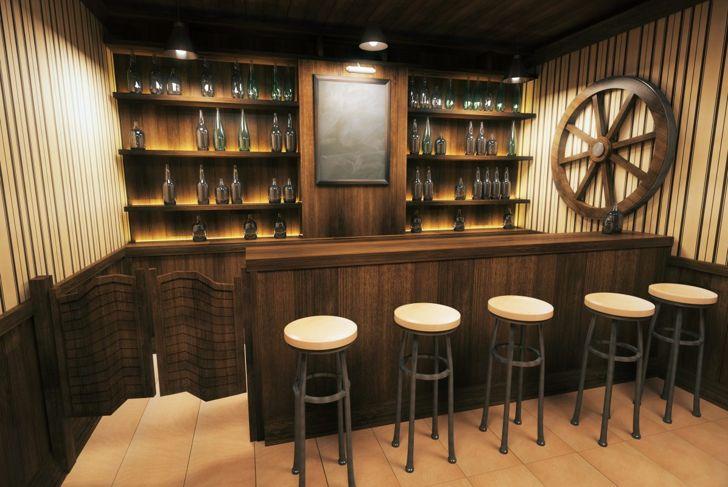 dry bar man cave