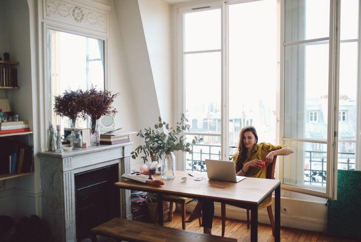 Parisian apartment with rustic furniture